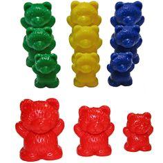 ours à trier en 3 tailles et 4 couleurs