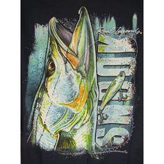Reel Legends Shirt Men L Navy Blue SNOOK Fly Fishing Art Cotton Short Sleeve NEW #ReelLegends #GraphicTee
