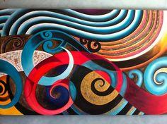 Urban Maori Art Maori Symbols, Maori Patterns, International Craft, Polynesian Art, Maori Designs, New Zealand Art, Nz Art, Maori Art, Kiwiana