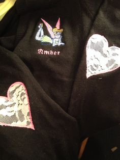 Machine embroidery with appliqué elbow patches