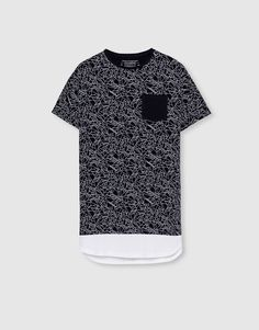 Camiseta print bolsillo frontal - Camisetas - Ropa - Hombre - PULL&BEAR España