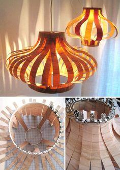 Lámpara+DIY+con+chapa+de+madera