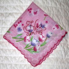 Her Cum Rag  Decorative Handkerchief  Hand by tidycloth on Etsy, $13.75