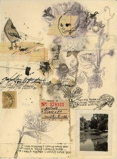 """Saatchi Online Artist: Thyer Machado; Assemblage / Collage, 2010, Mixed Media """"Untitled"""""""