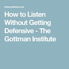 How to Listen Without Getting Defensive - The Gottman Institute is a genuine skill not many know how to embrace. Many want to listen with the intention to provide answers. Sometimes want to be heard and not given solutions. Active Listening, Listening Skills, Gottman Method, Gottman Institute, Family Therapy, Couple Therapy, Strong Marriage, Marriage Life, Happy Marriage