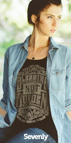 This shirt is amazing.  With each purchase you help fund an adoption of a special needs child, giving them a loving home and showing them they are not a burden. http://www.sevenly.org/?cid=InflPinterest0001Kaleb