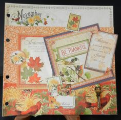 November Page -  A time to Flourish by Jan Kruger