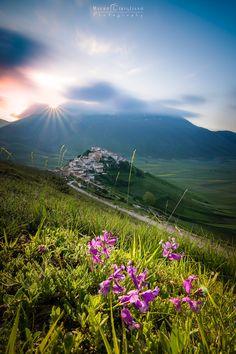 Castelluccio sunshine - Follow me on Facebook page: https://www.facebook.com/maurociriglianofotografia __________________________________  Castelluccio di Norcia ! Eccomi finalmente, anche io, in questo fantastico posto.  Piccolo angolo del pianeta a 1452 metri di altitudine, dove ogni scorcio che osservi vedi una foto! Castelluccio, immerso nel Parco Nazionale dei Monti Sibillini circondato dalla sua immensa distesa di campi che ben presto fiorirà sprigionando nell'aria 1000 profumi e…