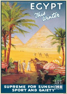 Egypt This Winter vintage travel poster
