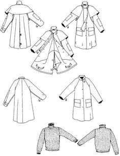 30 best raincoat rain poncho anorak and rain coat hoodie sewing Nordic Wool Sweaters 137 australian drover s coat folkwear coat pattern sewing coat patterns sewing patterns
