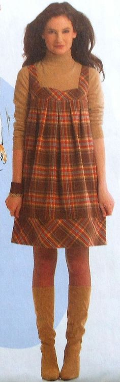 Girl\'s Jumper Dress Sewing Pattern UNCUT McCalls 7788 | Sewing ...