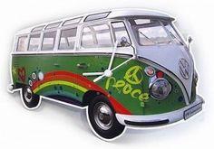 """Zegar ścienny VW Bus """"Peace"""""""