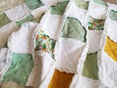 Mint Baby Quilt Rag Quilt Floral Quilt Baby Blanket Crib Quilted Baby Blanket, Baby Rag Quilts, Mint Nursery, Nursery Decor, Handmade Baby Gifts, Wood Worker, Vintage Nursery, Stroller Blanket, Cribs