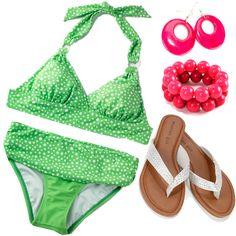 Dottie's Dot Halter Bikini