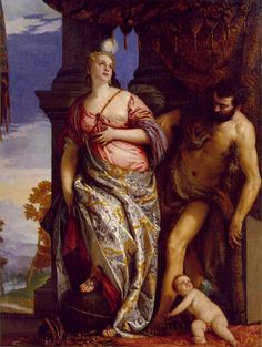Allegory of Wisdom and Strength, Paolo Veronese   c. 1580; Oil on canvas, 214.6 x 167 cm; Frick Collection, New York