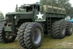 monster military truck - wow