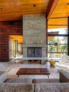 Modern Rustic Fireplace Design - gorgeous fireplace and heating stove ideas at www.marshsfireplaces.com