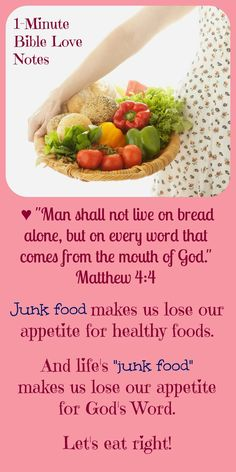 """This 1-minute devotion explains what """"spiritual junk food"""" is and helps us avoid it."""