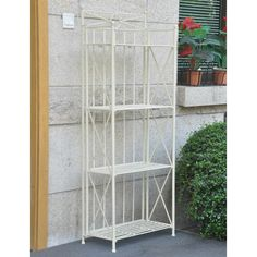 Found it at Wayfair - Artica 4-Tier Iron IndoorOutdoor Bakers Rack