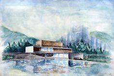 Marcio Kogan / House six (watercolor)