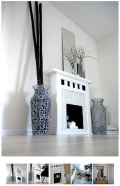 5 Pleasing Clever Tips: Gas Fireplace Makeover freestanding fireplace wall.Fireplace Drawing Accent Walls old fireplace tile. Decor, Victorian Fireplace, Fireplace Design, Faux Fireplace, Faux Fireplace Diy, Fireplace Remodel, Fireplace Decor, Fireplace Makeover, Slate Fireplace