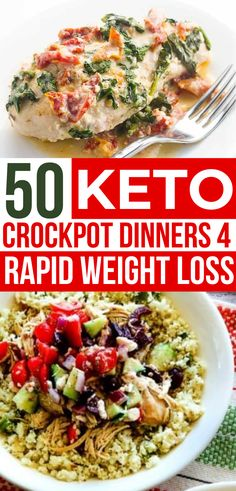 These keto crockpot dinners are SO EASY! Best low carb slow cooker recipes for my ketogenic diet! Big variety of healthy dinner meals - Chicken soup beef ribs chili wings pork chops & more! Ketogenic Crockpot Recipes, Easy Healthy Recipes, Slow Cooker Recipes, Diet Recipes, Easy Meals, Ketogenic Meals, Healthy Crockpot Dinners, Ketogenic Casserole, Dinner Crockpot
