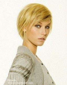 Hairstyles, haircuts, hair care and hairstyling. Hair cutting and coloring techniques to create today's popular hairstyles. Short Blonde Haircuts, Short Choppy Hair, Cute Haircuts, Haircuts For Fine Hair, Short Hair Cuts, Short Hair Styles, Modern Hairstyles, Popular Hairstyles, Short Hairstyles For Women