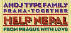 The Ahoj typeface is the result of a short four-day workshop in Prague of the core TypeTogether design team.