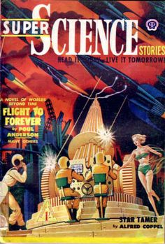 =-=1951. Because, in science fiction, all women wear bikinis