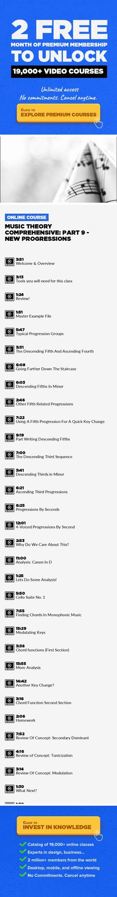Music Theory Comprehensive: Part 9 - New Progressions Music Composition, Music Education, Music Production, Music Technology, Music Theory, Creative, Ableton Live, Songwriting, Audio #onlinecourses #onlineprogramscomputers #onlineclassesnotes   For years I've been teaching Music Theory in the college classroom. These classes I'm making for Udemy use the same syllabus I've used in my college classe...