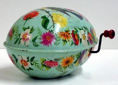 Vintage mattel Co.Winding Musical Egg