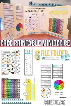 Free Kindergarten Learning Folder Printables. Use as morning work and reference folder.
