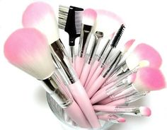 5b76ca8dcf 16 Piece Pink Synthetic Vegan Makeup Brush Set L.A. MInerals ® L.A.  Minerals® (REGISTERED