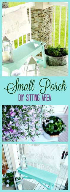 Home Decoration - small front porch ideas, diy front porch decor, front porch sitting area, - Wallpaper Pinme Front Porch Stairs, Porch Steps, Front Steps, Front Entry, Summer Porch Decor, Diy Porch, Small Front Porches, Small Patio, Small Terrace