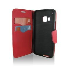 HTC One/ M9 Red Flip Leather Case