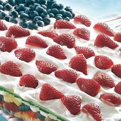 Layered Fruit Flag Salad! Yes Please!