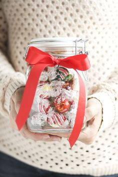 DIY the perfect (and easiest!) holiday teacher gift.  A mason jar of special moments they can take for themselves, to enjoy smooth melting bliss with Lindt LINDOR truffles.