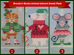 Animal Advent Stitch-A-Long Sneak Peek and Sale