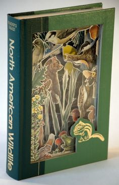 North American Wildlife Book Carving by hokeystokes on Etsy, $200.00