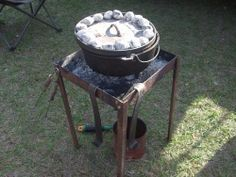 Dutch Oven Tables, Use Your Charcoal Chimney Starter Safely
