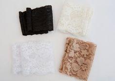 American Girl Doll lace boot cuffs - black, white, cream, tan by EverydayDollwear on Etsy