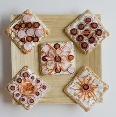 Stephopoloc !Tartine suédoise au saumon et légumes croquants - Stéphopoloc !