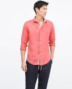 ZARA - MAN - Contrast linen shirt
