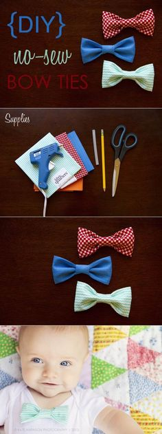 No sew baby bow ties in case i have a boy