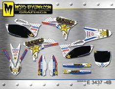 Yamaha YZf 250 '10-'13 - Moto-StyleMX - graphics decals kits Yamaha Yzf, Custom Design, Decals, Graphics, Stickers, Motorbikes, Tags, Graphic Design, Sticker