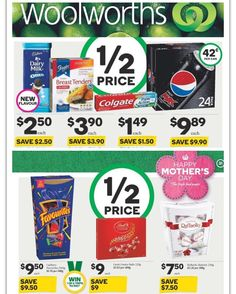 Tons of #halfprice #specials in this week's #woolworths catalogue #onsale 27/4-3/5/16 #groceryshopping #savemoney #savvyshopper #bargainbuy #woolies #boxedchocolates #savvysaver #apr16 #may16 @woolworths_au