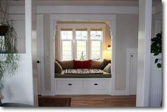 Michelle - Window Seats - This window seat is lovely because  it is deep enough to curl up in with a book or a friend.