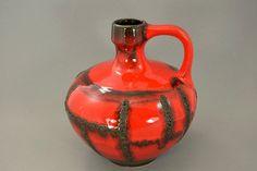 Große Vintage Vase/Krug / Ruscha / Dekor Costa / Modell 340 | West Germany | WGP | 60er von ShabbRockRepublic auf Etsy