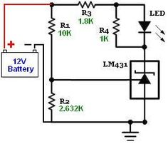 Battery monitor with set to Battery Charger Circuit, Automatic Battery Charger, Hobby Electronics, Electronics Projects, Electronic Circuit Projects, Electronic Schematics, Voltage Regulator, Circuit Diagram, Power Generator