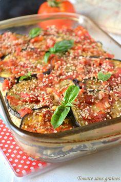 Tomate sans graines - Green lifestyle : cuisine, bien-être, zéro déchet...: Gratin d'aubergines au riz complet